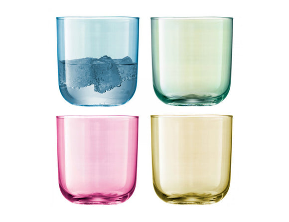 LSA Polka Tumbler 420ml Pastel Assorted, Set of 4