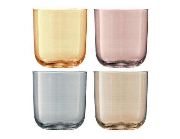 LSA Polka Tumbler 420ml Metallics Assorted, Set of 4