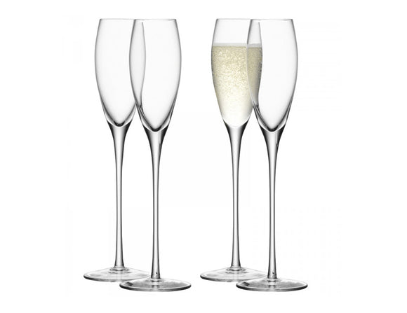 LSA Wine Champagne Flute 200ml, Set of 4