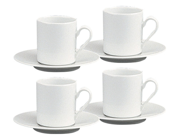 Gastronomy Espresso Cup & Saucer 100ml, Set of 4