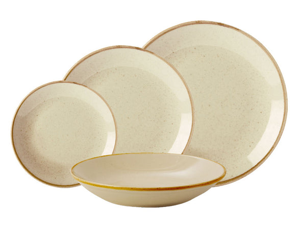 Rustic Seasons Dinner Set With Wheat Décor, 4 Piece