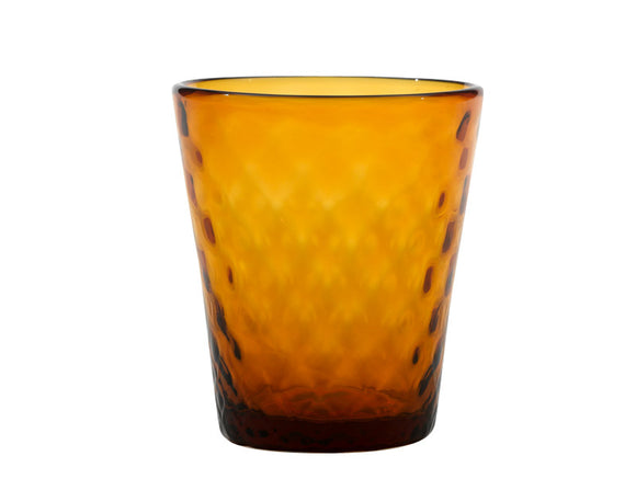 Zafferano Balloton Tumbler Glass Amber 320ml, Set of 6