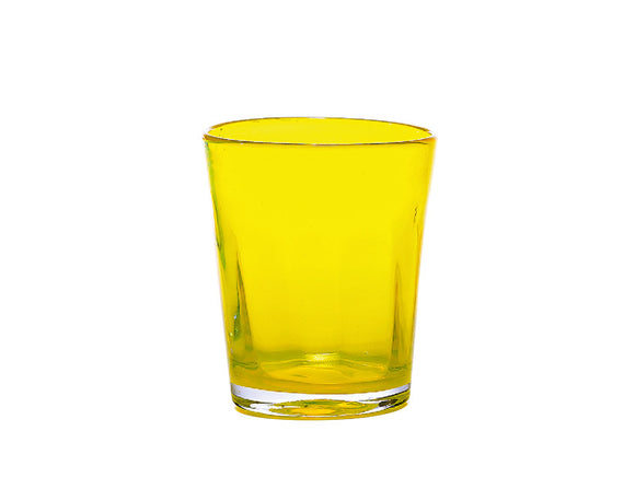 Zafferano Bei Tumbler Glass Yellow 320ml, Set of 6