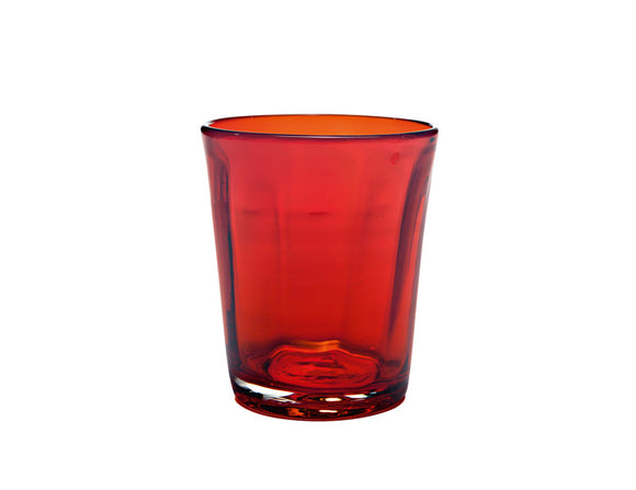 Zafferano Bei Tumbler Glass Red 320ml, Set of 6