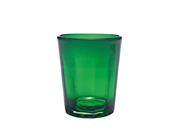 Zafferano Bei Tumbler Glass Green 320ml, Set of 6