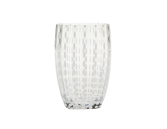 Zafferano Perle Tumbler Glass Transparent 320ml, Set of 6