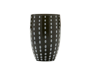 Zafferano Perle Tumbler Glass Black 320ml, Set of 6