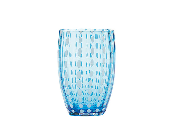 Zafferano Perle Tumbler Aquamarine 320ml, Set of 6