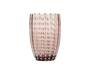 Zafferano Perle Tumbler Glass Amethyst 320ml, Set of 6