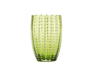 Zafferano Perle Tumbler Apple Green 320ml, Set of 6