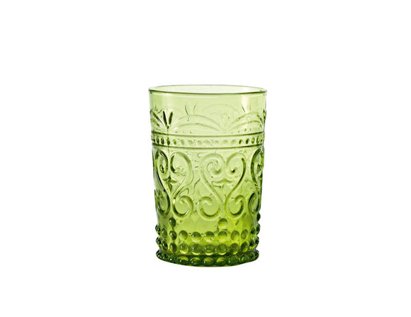 Zafferano Provenzale Tumbler Apple Green 270ml, Set of 6