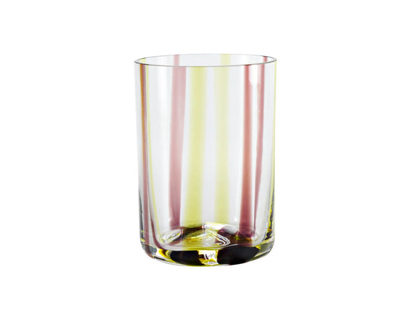 Zafferano Tirache Tumbler Green & Amethyst, Set of 6