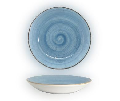 Artigiano Coupe Bowl 26cm, Set of 4, Blue Décor