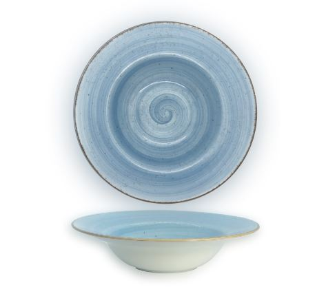 Artigiano Pasta Bowl 25cm, Set of 4, Blue Décor
