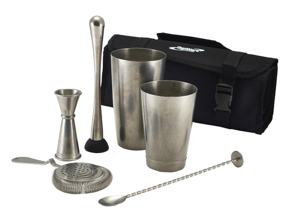 Soiree Vintage Steel Cocktail Kit, 7 Piece