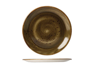 Rustic Craft Coupe Plate 20cm, Warm Brown Décor