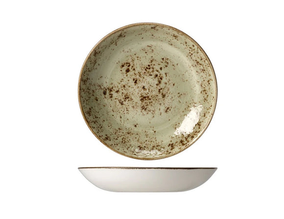 Rustic Craft Coupe Bowl 22cm, Green Décor
