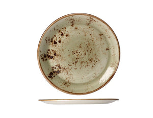 Rustic Craft Coupe Plate 23cm, Green Décor