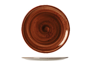 Rustic Craft Coupe Plate 28cm, Terracotta Décor
