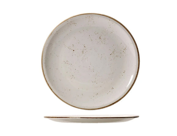 Rustic Craft Coupe Plate 23cm, White Décor