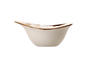Rustic Craft Freestyle Bowl 18cm, White Décor