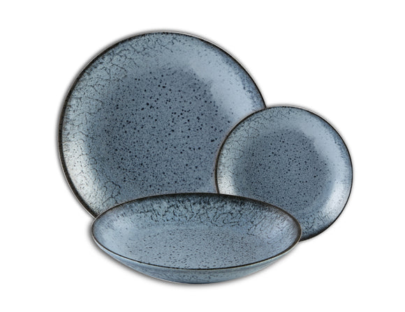 Aura Glacier Dinner Set, 3 Piece