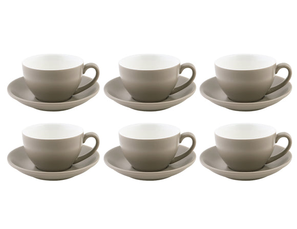 Bevande Cappuccino Cup 20cl, Set of 6, Stone