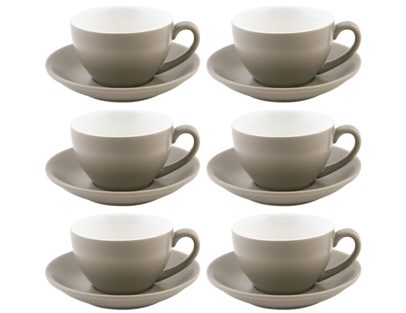 Bevande Tea Cup 28cl, Set of 6, Stone