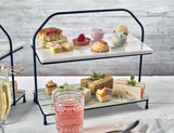 Imperial Two Tier Stand with Marble Platters