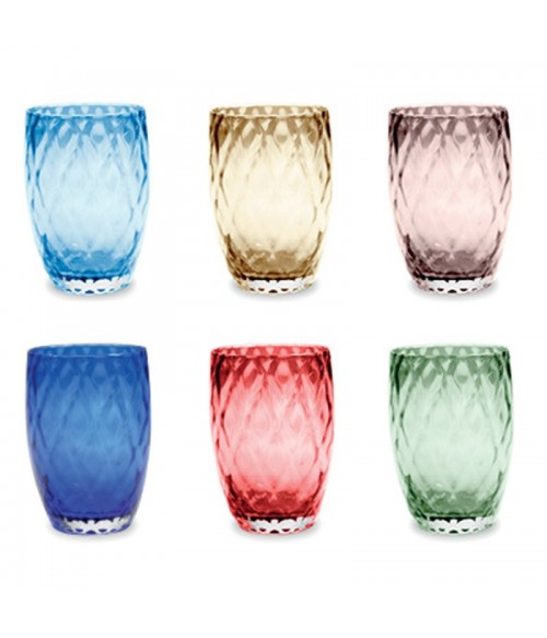Zafferano Losanghe Tumbler Assorted 38cl, Set of 6
