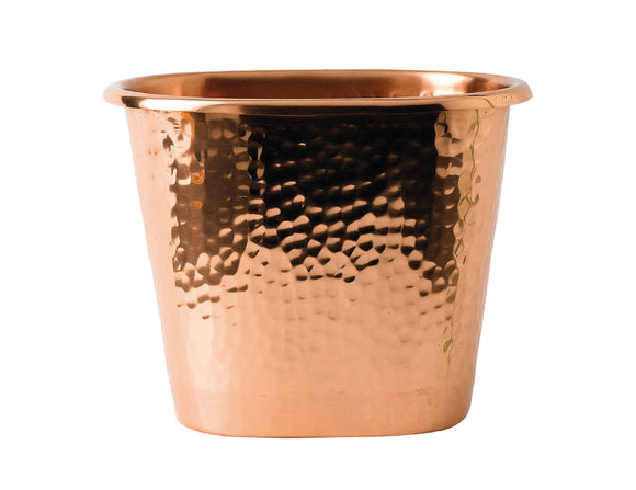 Soiree Hammered Solid Copper Oval Wine Bucket