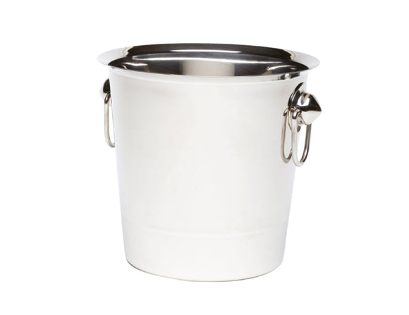 Soiree Ring Handled Wine Bucket, Stainless Steel