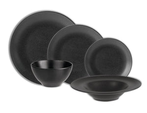 Rustic Seasons Dinner Set Graphite Décor, 5 Piece