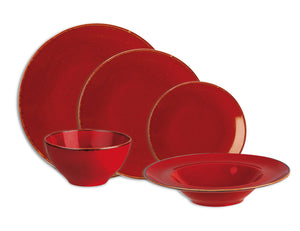 Rustic Seasons Dinner Set Magma Décor, 20 Piece