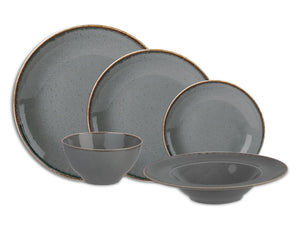 Rustic Seasons Dinner Set Storm Décor, 20 Piece