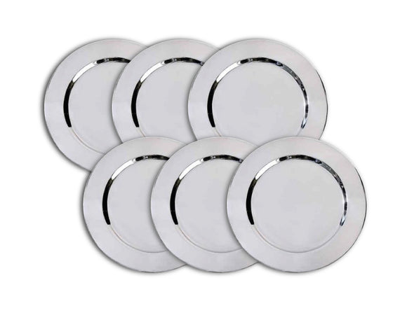 Charger Plate 33cm, Stainless Steel, Set of 6