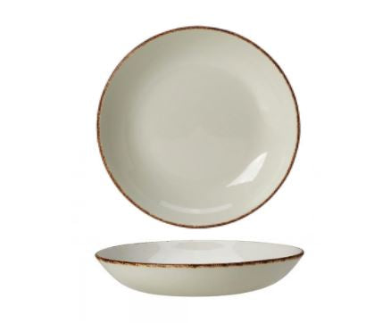 Rustic Brown Dapple Coupe Bowl 22cm, Set of 2