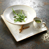 Rustic Craft Rectangular Platter 33cm, Green Décor