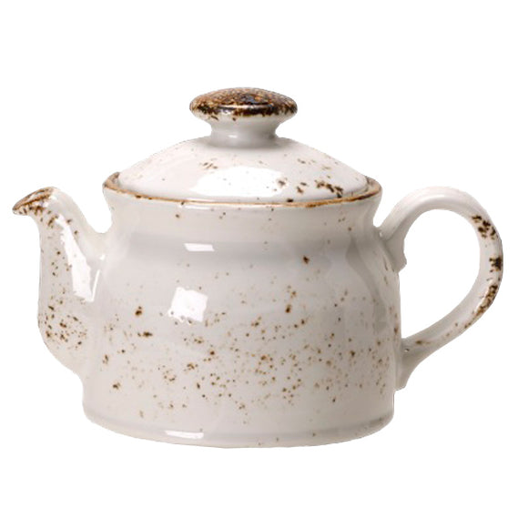 Rustic Craft Tea Pot 43cl, Rustic White Decor