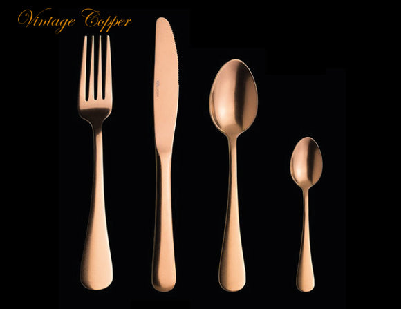 Varick Vintage Copper 48 Piece Cutlery Set