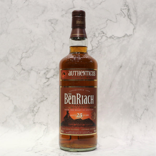 BenRiach 25YO Authenticus Peated Malt - 70cl/46%