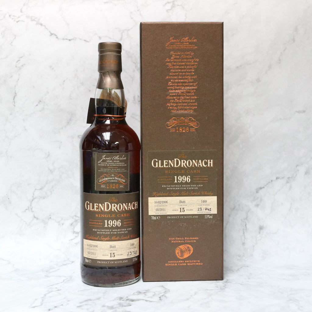 Glendronach Single Cask 1996 #1489 15YO - 70cl/53.9%