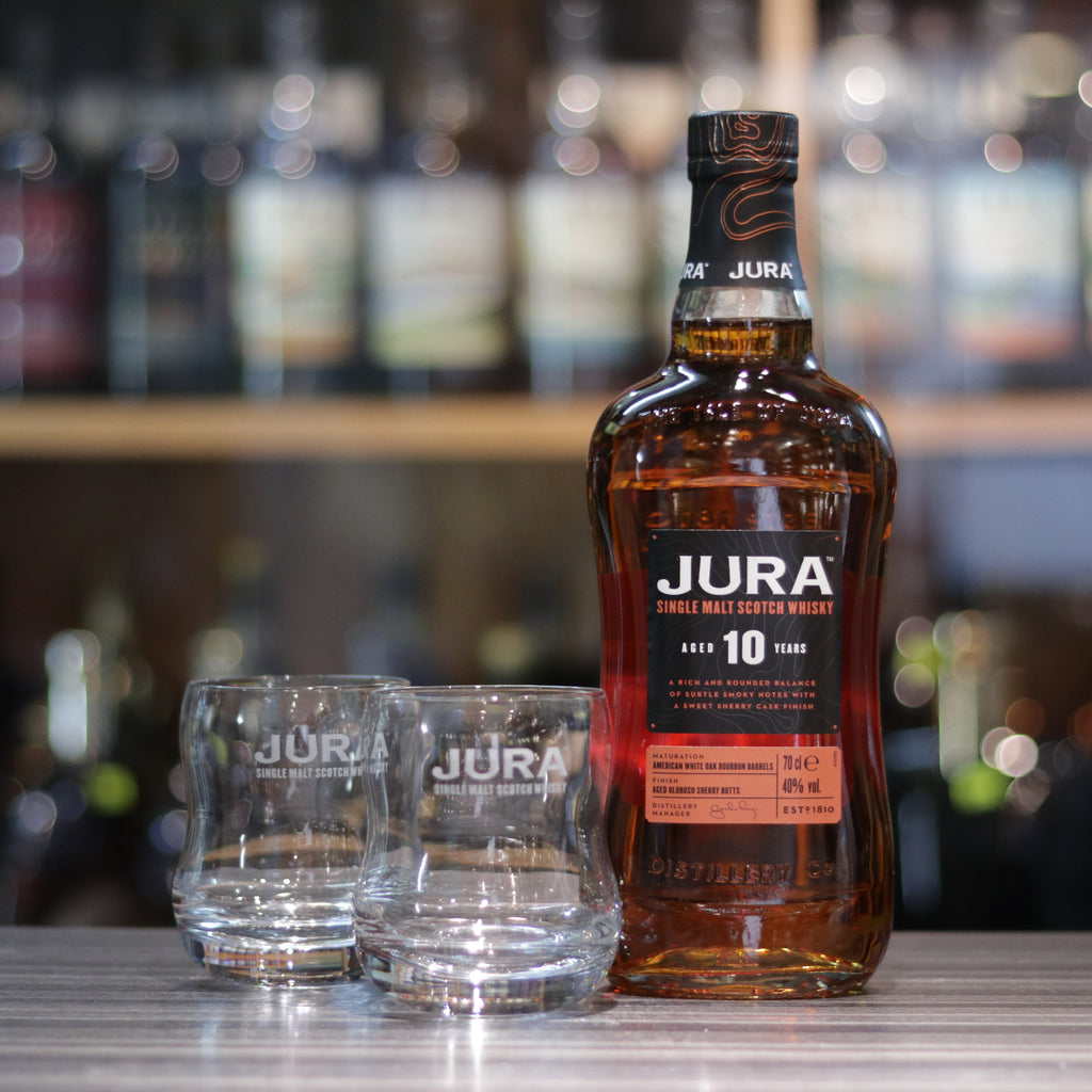 Jura 10YO Gift Set with 2 Whisky Glass - 70cl/40%