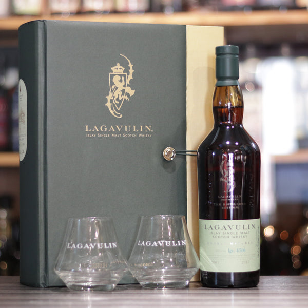 Lagavulin DE 2001/2017 Gift Pack with 2 Glasses - 70cl/43%