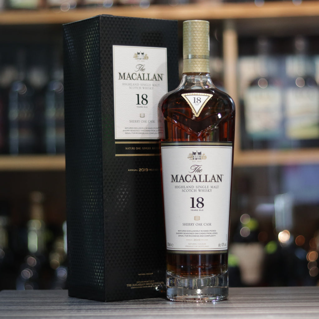 Macallan 18YO Sherry Oak (Bottled 2019) - 70cl/43%