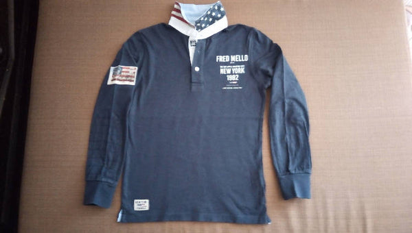 Polo blu new york Fred Mello usata