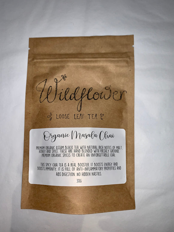 Wildflower Loose Leaf Tea- Organic Masala Chai