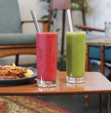 Stainless Steel Smoothie Straw Set
