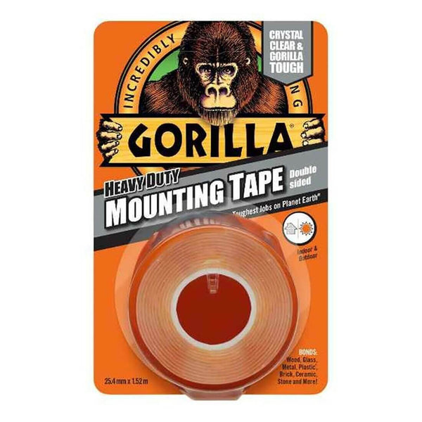 Gorilla Heavy Duty Clear Mounting Tape 1.52m x 25.4mm