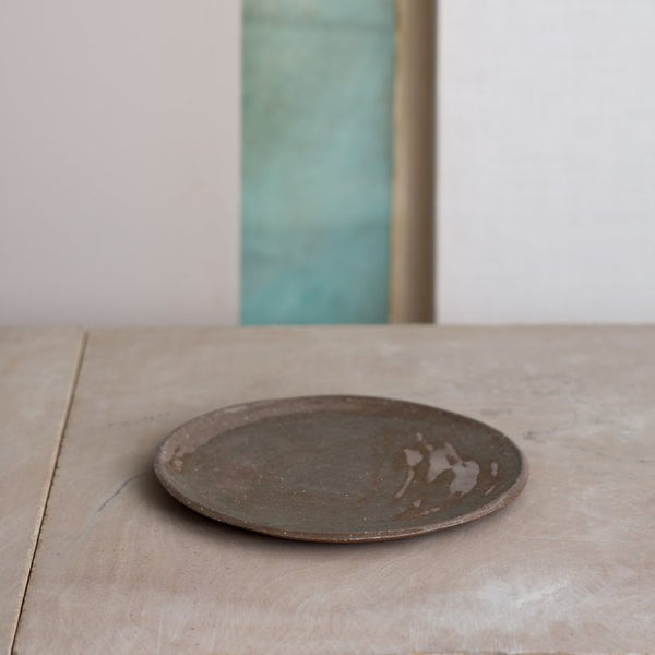 Stoneware Serving Plate - Brown